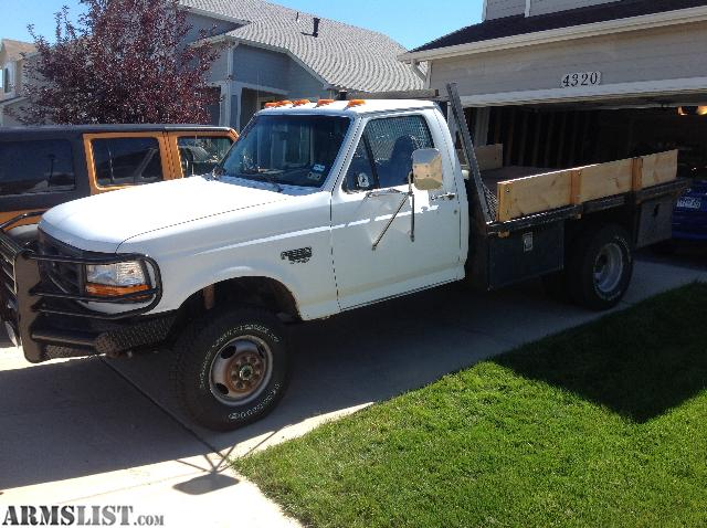 armslist for sale trade 1996 f 350 diesel 4x4 drw flatbed. Black Bedroom Furniture Sets. Home Design Ideas