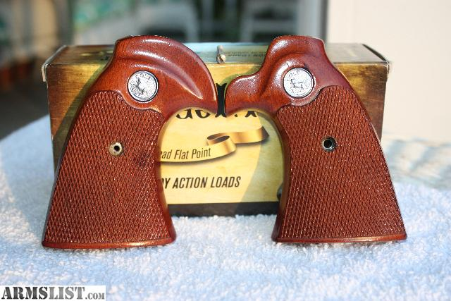 Colt Diamondback D Frame Factory Wood Grips With Silver Medallions In Darn  Near Perfect Condition. Grip Screw Included.
