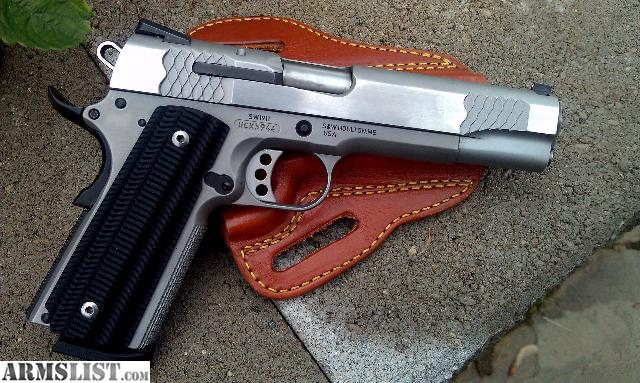 For Sale: S&W E-series 1911 stainless steel .45 acp VZ grips