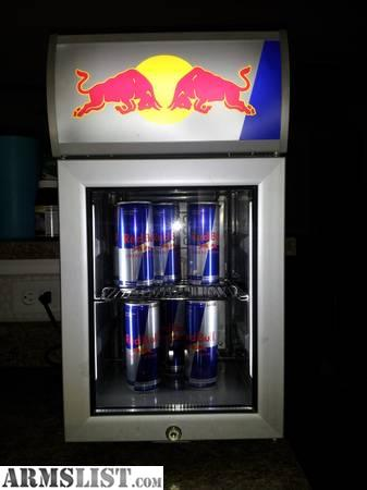 armslist for sale red bull mini fridge. Black Bedroom Furniture Sets. Home Design Ideas