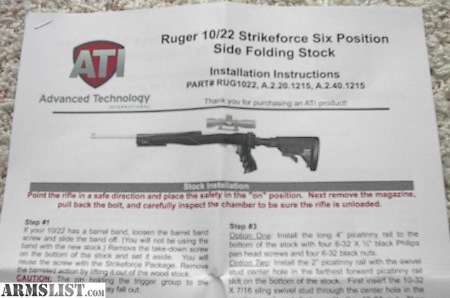Armslist For Sale New Ati Ruger 1022 6 Position Side Folding