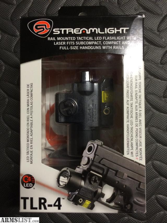 armslist for sale streamlight tlr 4 flashlight red laser combo. Black Bedroom Furniture Sets. Home Design Ideas