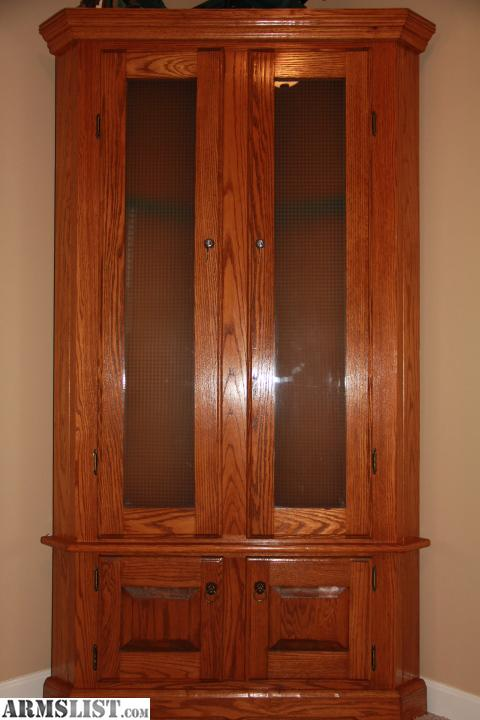 armslist - for sale: corner gun cabinet