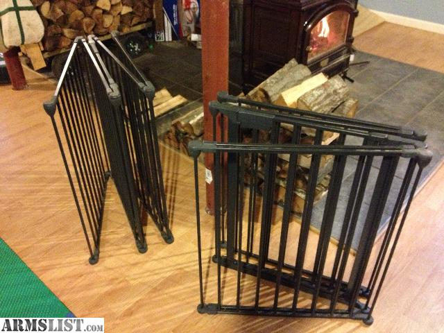 Hearth Gate Wood Stove/ Fire Place Fence. 2, 10 foot fences. Each of them  is made of 5, 2 foot sections. The middle section of each fence has a built  in ... - ARMSLIST - For Sale/Trade: Wood Stove Safety Fence(s)