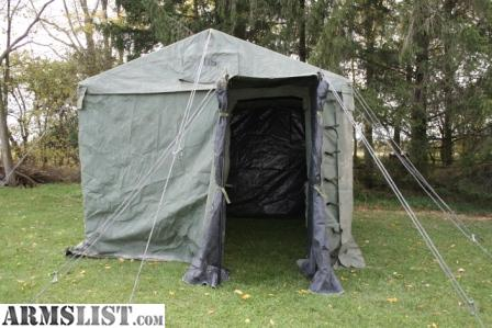 For cash sale Military Command Post Tent Green with 11u0027x11u0027 frame 7u0027 height. Great for hunting c&ing or general use in the back yard. & ARMSLIST - For Sale: Military Command Post Tent
