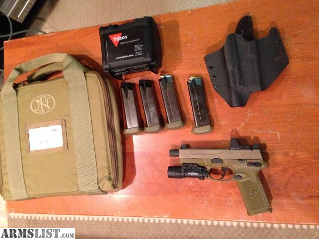 Fn Fnp 45 Tactical With Surefire X300 And Trijicon Rmr