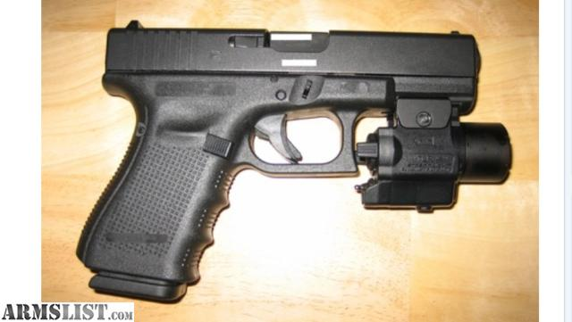 ARMSLIST - For Sale/Trade: Glock 19 Gen 4 with light ...
