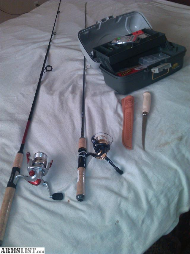 Armslist for sale 2 never used shakespeare rods w reels for Used fishing gear for sale