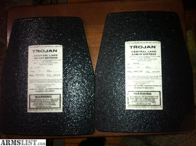 I have front and back 10x12 level 3 trojan plates made 03/17/10 & ARMSLIST - For Sale/Trade: Level 3 stand alone steel Trojan plates ...