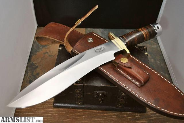 handmade bowie knives for sale armslist for sale custom randall style bowie rick henn 7812
