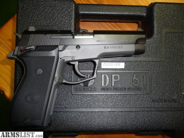 ARMSLIST - For Sale: Daewoo DP 51 9mm