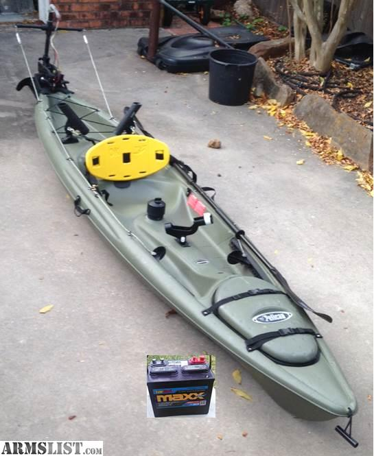 Armslist for sale 12 39 kayak with trolling motor great for Fishing kayak sale