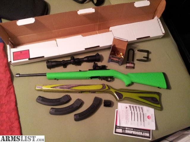 Armslist For Sale Ruger 10 22 With Hogue Zombie X Stock