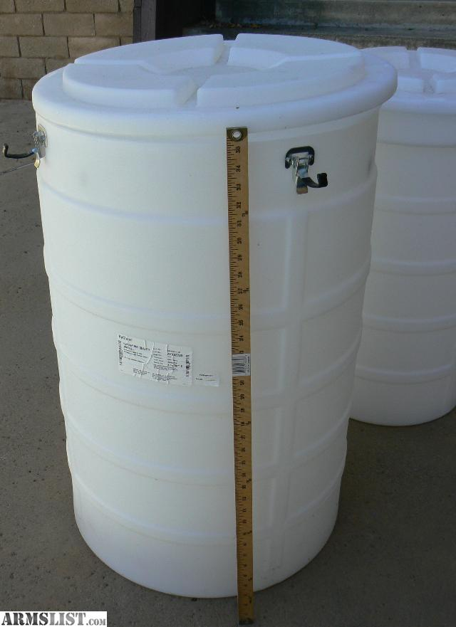 Barrels for emergency food storage and water storage. Large white barrels with cl& down lid for food ammo or dry good storage. & ARMSLIST - For Sale: Barrels for Long-Term or Emergency Food Ammo ...
