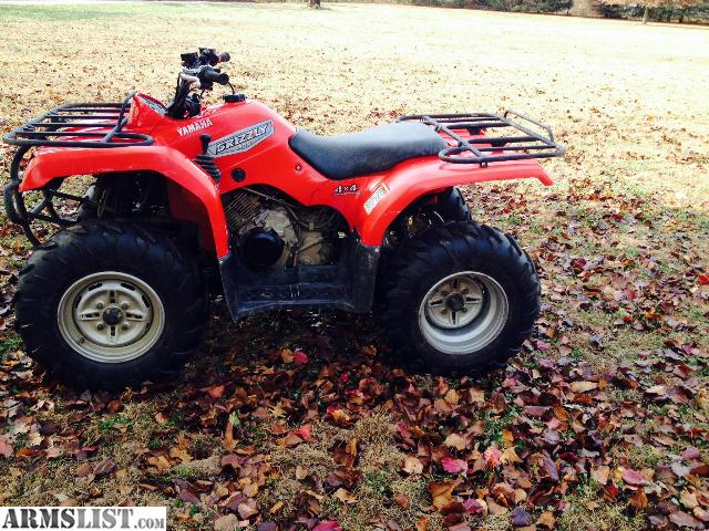 ARMSLIST - For Sale/Trade: 2007 yamaha grizzly 350 4x4 hunters look!