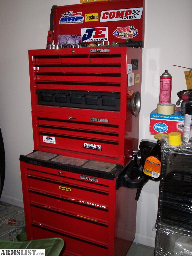 craftsman three tier tool box and toolsair grinder hammer impacts combo wrenches multiple pliers multiple screw drivers
