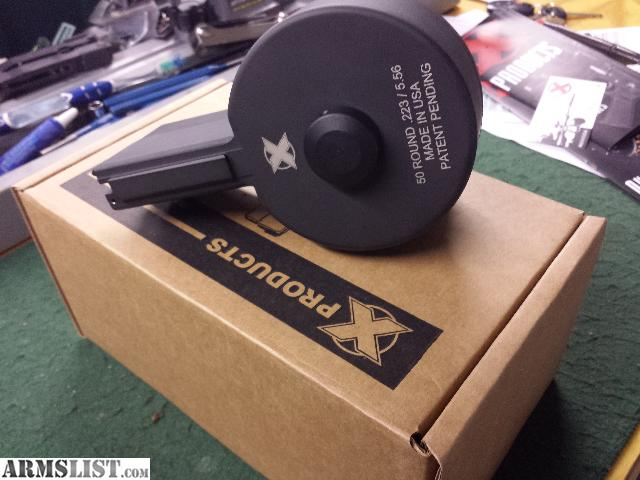 ARMSLIST - For Sale: X Products X-15 50Rd Drum for AR-15, M16, SCAR
