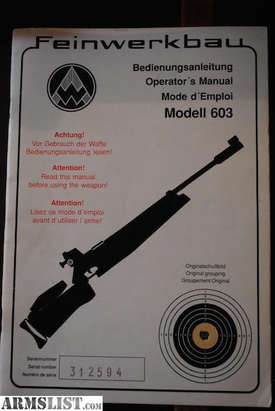 Fwb 603 manual