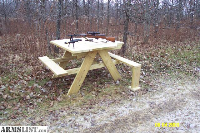 ARMSLIST - For Sale: Shooting Bench/Picnic Table Combo