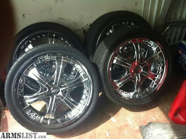 armslist for sale 18 inch chrome rims with goodyear tires. Black Bedroom Furniture Sets. Home Design Ideas