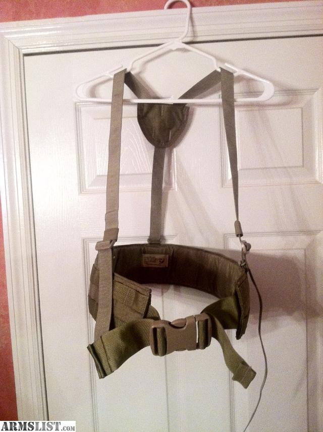 Eagle Industries Padded War Belt With Suspenders Molle System Khaki Fits  32 46  New