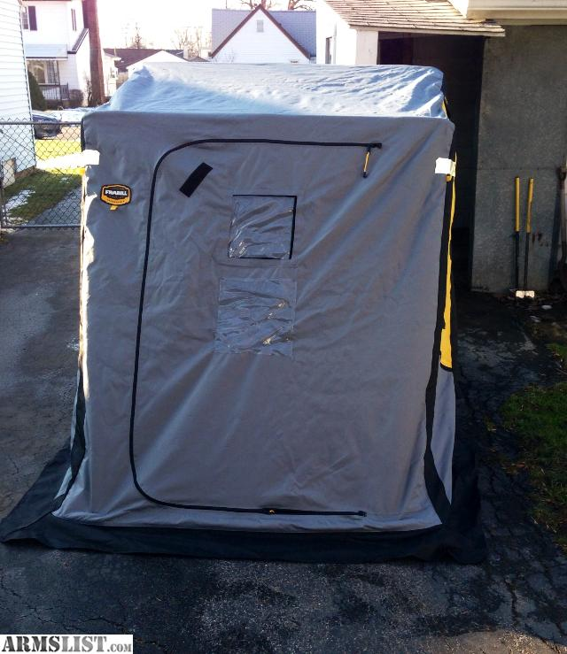 Armslist for sale trade frabill trekker dlx deluxe ice for Ice fishing huts for sale