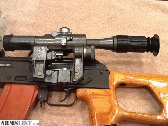 ARMSLIST - For Sale: AK74 - CUR2 Dragunov Style with Real ...