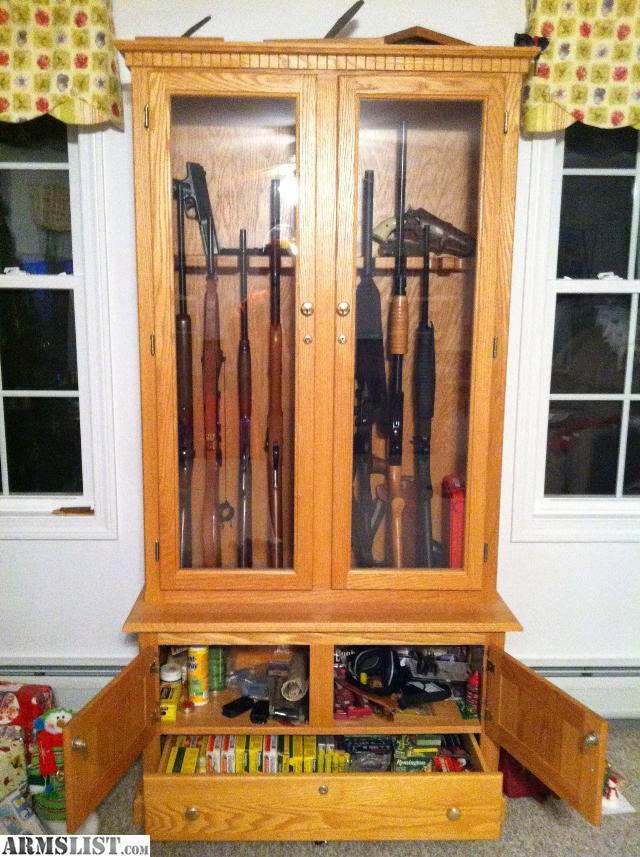 for sale custom gun cabinet solid oak listed in gun safes save to