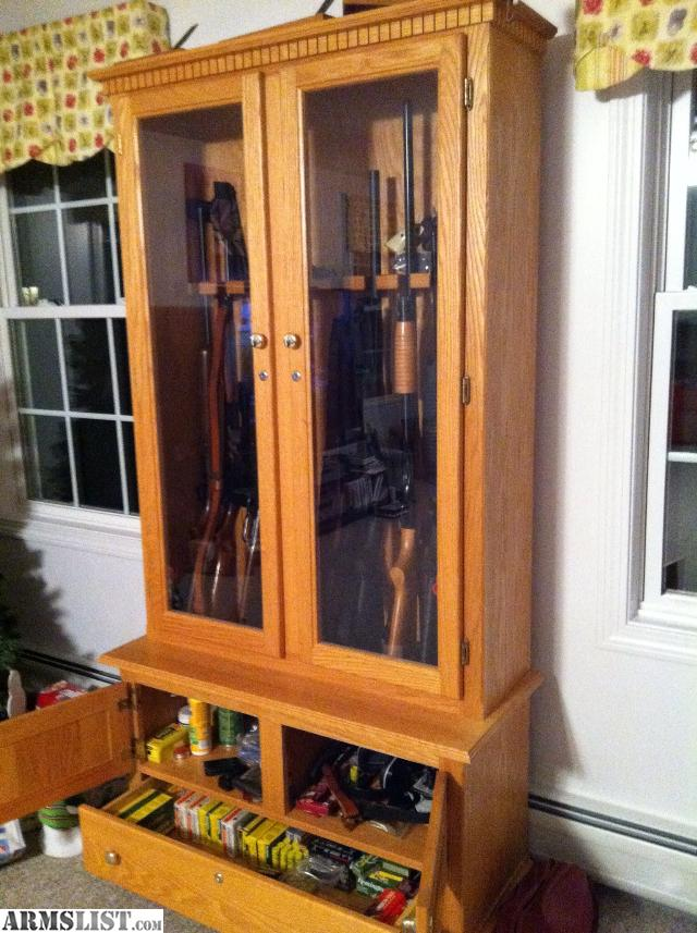 Armslist For Sale Custom Gun Cabinet Solid Oak