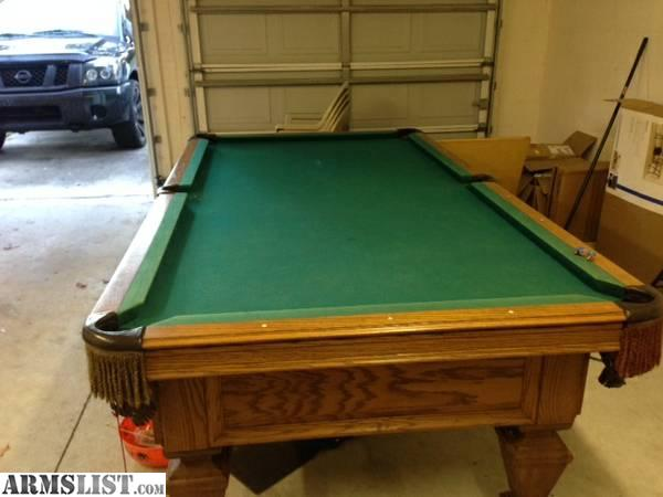 This Is An Single Piece Slate 8 Foot Olhausen Pool Table. Felt Is In Good  Shape. This Isnu0027t The Walmart Garbage.