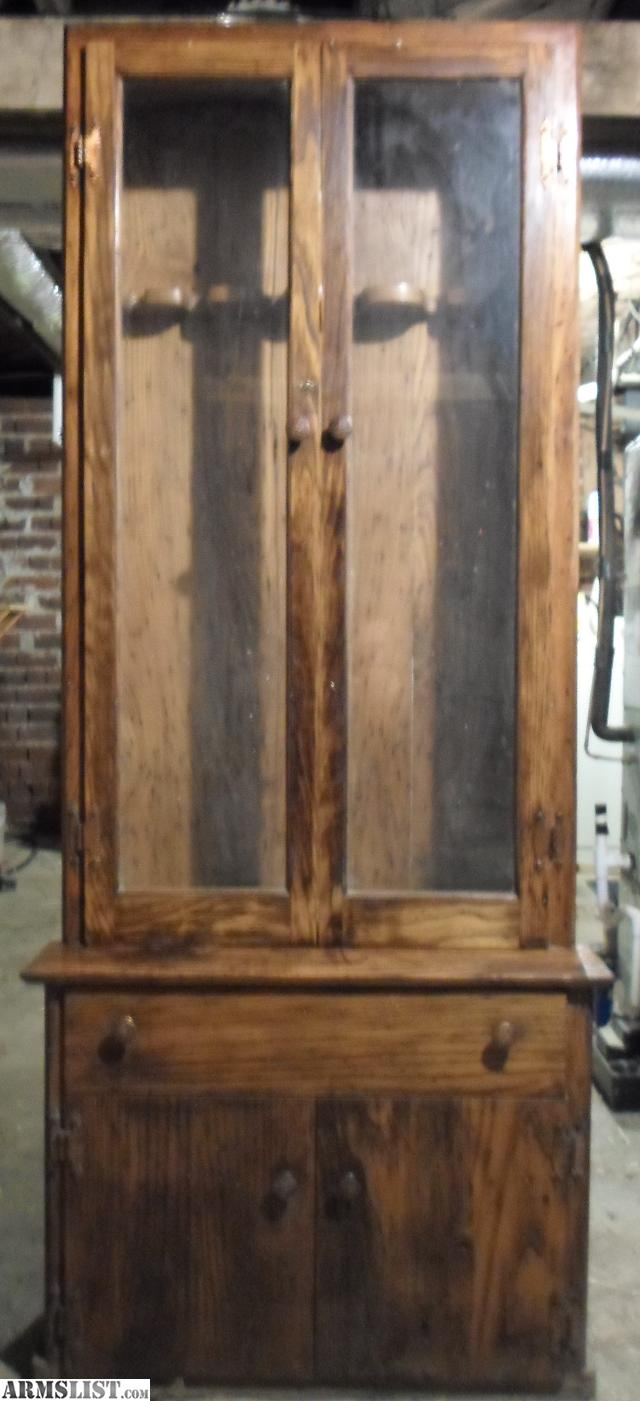 sale large patriot furniture cabinets with dutchcrafters wood made hidden classics used from gun bookcase american for cabinet