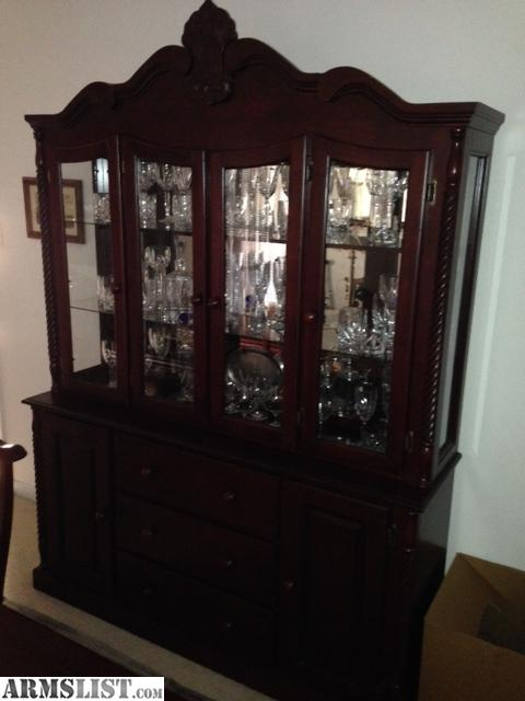 Armslist for sale trade mahogany dining room set table for Dining room hutch for sale