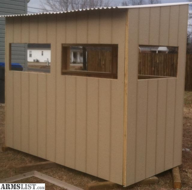 Armslist for trade shooting house deer blind for Building deer blind windows