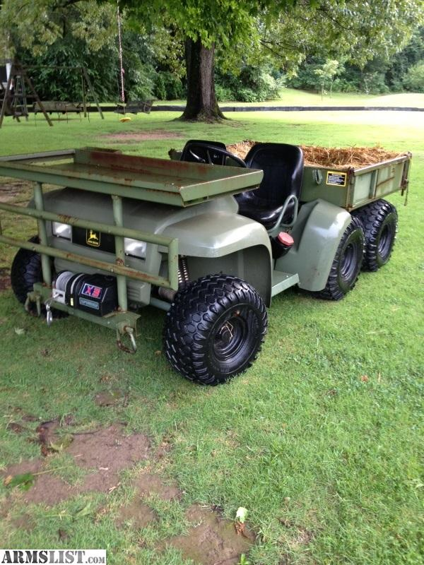 armslist for sale john deere military gator 6x4 diesel. Black Bedroom Furniture Sets. Home Design Ideas
