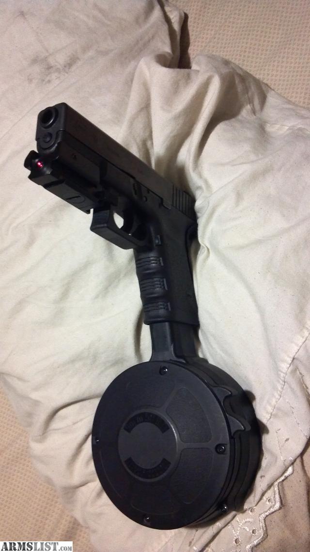 ARMSLIST - For Sale: Glock9 mm 50 round drum clip