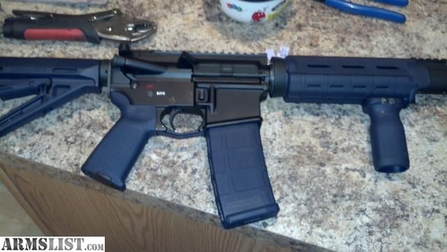 Armslist For Sale Rare Navy Blue Magpul Ar 15 Furniture