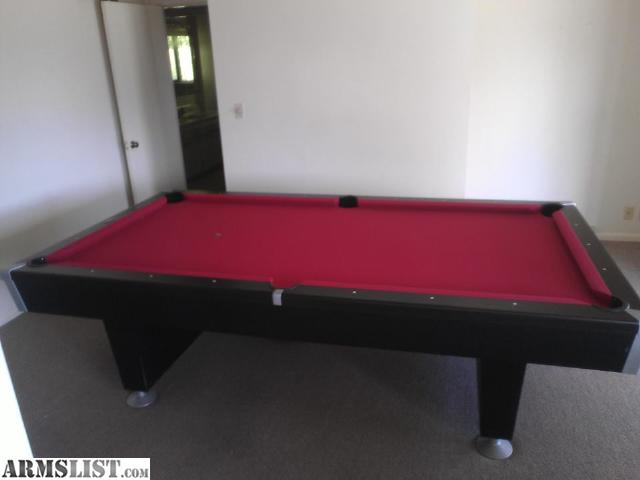Delightful $900 OBO ( Retail New At $2,598) 8ft Brunswick Black Wolf Pool Table