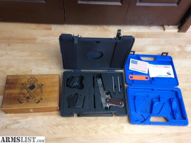 armslist for sale springfield trophy match 1911 stainless w display case and boxes. Black Bedroom Furniture Sets. Home Design Ideas