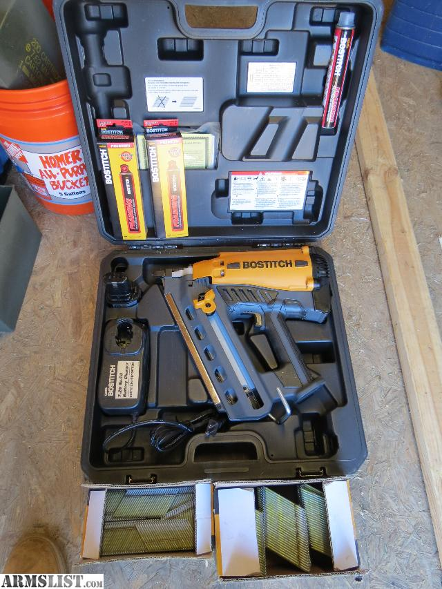 bostitch cordless framing nailer with case battery charger 6 fuel cells also comes with 1 box of 2000 3 hot dip galvanized nails