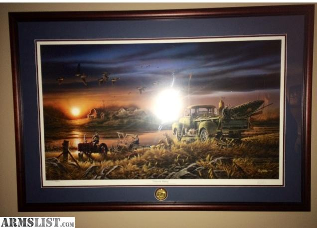i have a mint condition ducks unlimited 60 anniversary print patiently waiting by terry redlin it is number print number 8464900