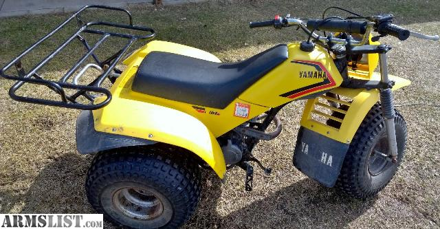 yamaha 3 wheeler. i have here posted for sale or trade a yamaha tri-moto 3 wheeler. am listing this my brother. 1983 200cc (4 stroke) in good condition with wheeler