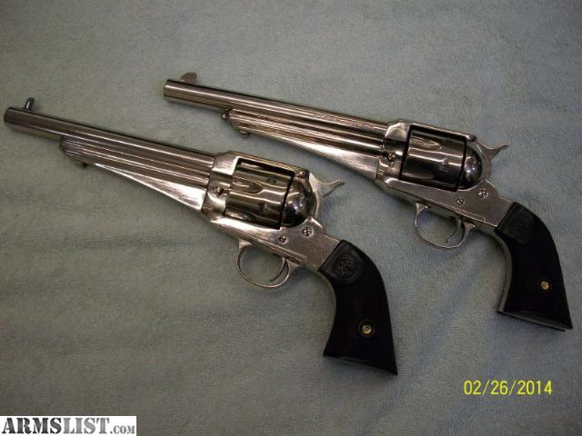 armslist for sale pair of remington 1875 sa 45 colt. Black Bedroom Furniture Sets. Home Design Ideas