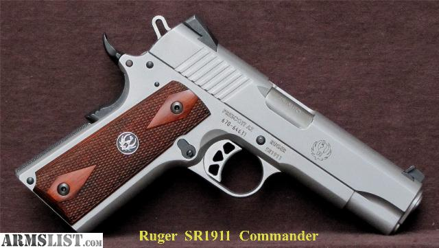 ARMSLIST - For Sale: RUGER SR1911 COMMANDER PLUS EXTRAS