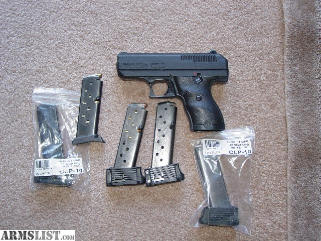 ARMSLIST - For Sale: Hi-Point 9mm pistol extended magazines