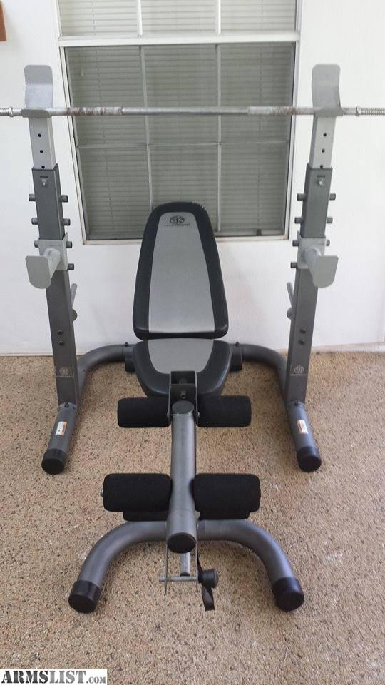 Armslist For Sale Trade Golds Gym Platinum Weight Bench And Weights