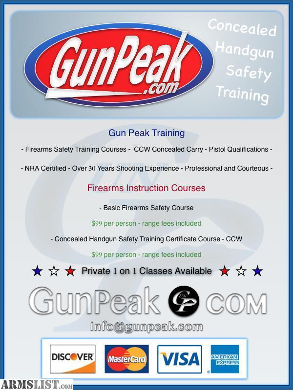 Armslist For Sale Colorado Concealed Handgun Training Certificate
