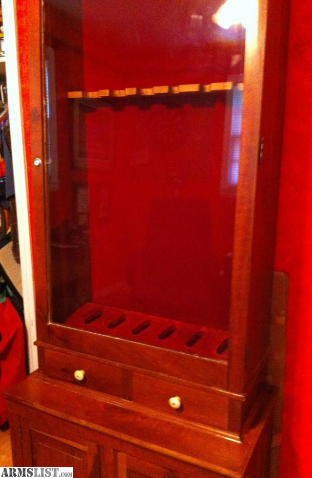 gun cabinets for sale armslist for trade cherry wood gun cabinet 16129