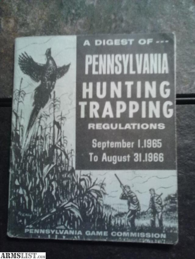 Armslist for sale classic 1965 hunting regulations guide for Pennsylvania fishing license