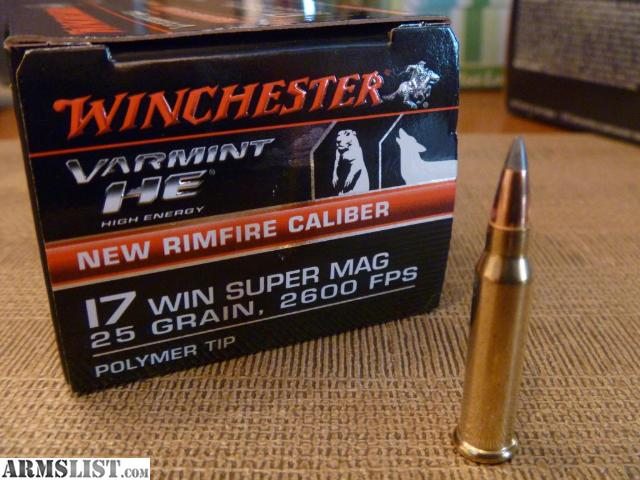 ARMSLIST For Sale 17 Winchester Super Magnum WSM ammo