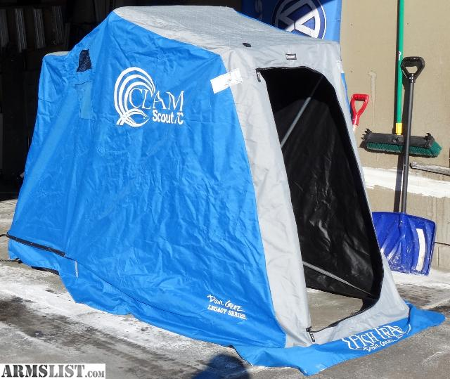 Armslist for sale clam scout tc portable fish house for Craigslist fishing gear